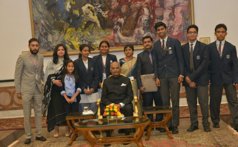 Meeting with the President of India on Children's Day