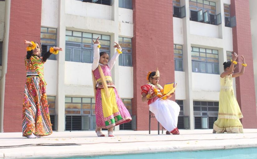 Assembly Activity — Class II B on the Topic ' Vasant Panchmi'